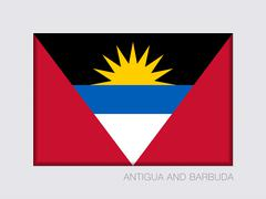 Flag Antigua and Barbuda with Proportion 2:3 Stock Illustration