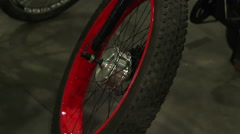 Wheels of bicycle for extreme activity, professional cycling mountain bike sport Arkistovideo