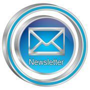 Newsletter Button - 3D illustration Stock Illustration