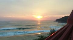 Sun go down at Karon beach Stock Footage