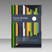Abstract straight lines cover brochure Stock Illustration