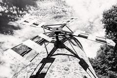 Old tower windmill in Holic, Slovakia, architectural theme, black and white Stock Photos