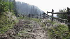 Panorama of the road in mountains Stock Footage