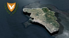 Limassol with Coat Of Arms Animation Map Stock Footage