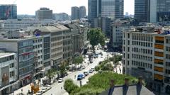 4K Roßmarkt traffic Frankfurt am Main Germany Europe Stock Footage