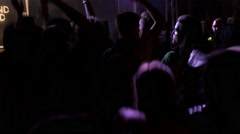 Fans Enjoy Music At The Festival Stock Footage