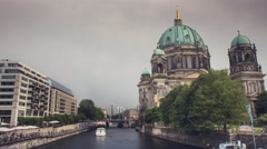Timelapse of Berlin Cathedral (Berliner Dom) during a day. Stock Footage