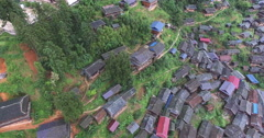 UAV aerial view of Chinese traditional tile-roofed house Stock Footage