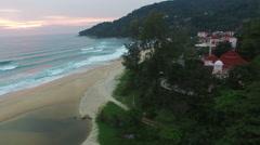 Sunset at Karon beach Stock Footage