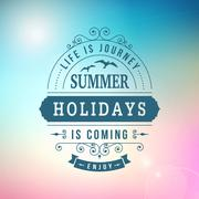 Summer holidays coming curl poster Stock Illustration