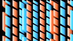 Vj Loop 3D Party Lines Groovy Orange Blue - stock footage