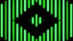 Vj Loop Classic Stripes Green Club Visuals - stock footage