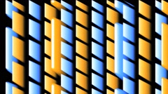 Vj Loop 3D Party Blue Orange Lines Groovy Stock Footage
