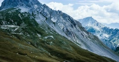 4K, Time Lapse, Colle Fauniera, Italy, Pan, Cold Version Stock Footage