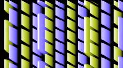 Vj Loop 3D Party Lines Groovy Green Purple Visual Stock Footage