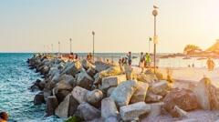 Timelapse Nesebar on Bulgarian Black Sea Coast Stock Footage