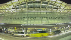 San Francisco International Airport Timelapse Stock Footage