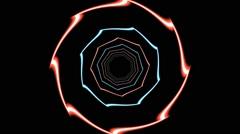 HD Vj Loop Neon Club Static Visual Stock Footage