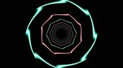 HD Vj Loop Neon Motion Dance Club Visual - stock footage