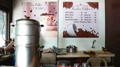 Indian lady preparing indian filter coffee Stock Footage