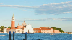 VENICE, ITALY - Panorama from Saint Mark's bus stop in Venice. Stock Footage