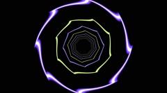 HD Vj Loop Static Neon Motion Club Visual - stock footage