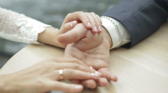 Young couple holding hands Stock Footage