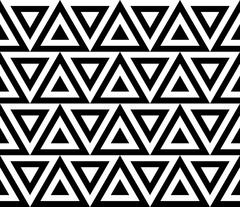 Vintage retro seamless pattern black and white Stock Illustration