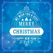 Merry christmas vintage curl background Stock Illustration
