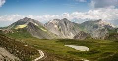 4K, Time Lapse, Mountain Range At Gias Bandia, Italy - Neutral Version, Pan Stock Footage