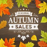 Seasonal autumn sales business background Stock Illustration