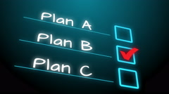 A change of idea plan B, strategy planning business Stock Footage