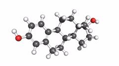 Estradiol hormone, rotating model Stock Footage