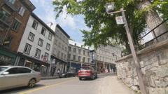 Cote de la Montagne street. Quebec City, Canada. - stock footage