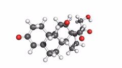 Aldosterone hormone, rotating molecular model Stock Footage