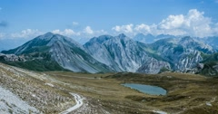 4K, Time Lapse, Epic View On Rocca La Meija Mountain Range - Cold Version Stock Footage