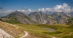 4K, Time Lapse, Epic View On Rocca La Meija Mountain Range, France - Neutral  Stock Footage