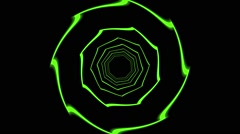 HD Vj Loop Neon Motion Club Green Visual - stock footage