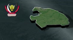 Kinshasa with Coat Of Arms Animation Map Stock Footage