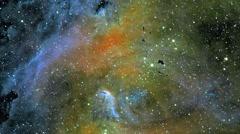 3D  Space Galaxy Flight Universe Nebula Stars Vj Loop Stock Footage