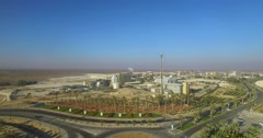 Aerial Shot industrial zone Stock Footage