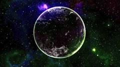 3D Space Flight Planet Nebula Stars Sci Fi Vj Loops - stock footage