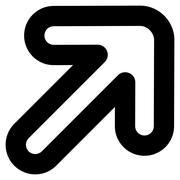 Right-Up Arrow Stroke Vector Icon - stock illustration