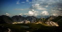 4K, Time Lapse, Sunset At Rocca La Meija Mountain Range, France Stock Footage