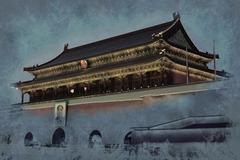 Gate of Heavenly Peace - entrance to the Palace Museum in Beijin Stock Illustration