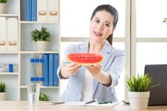 do you want some snack for reduce the summer heat temperature - stock photo
