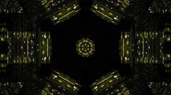 Disco Kaleidoscope  Vj Loop Motion Buckground Yellow Stock Footage