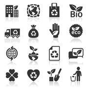 Ecology icons set4. vector illustration. More icons in my portfolio. Stock Illustration