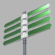 Blank direction sign with 8 arrows (add your text) with clipping path. Stock Illustration