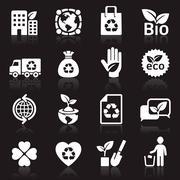 Ecology icons set. vector illustration. More icons in my portfolio. Stock Illustration